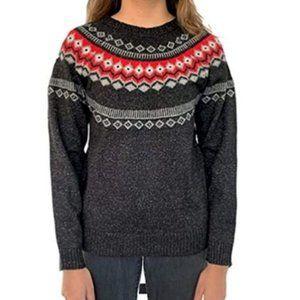 Weatherproof Fair Isle Black Sweater - Size Small - NWT